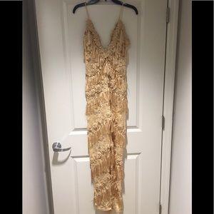 Pants - Rihanna inspired fringe jumpsuit size M